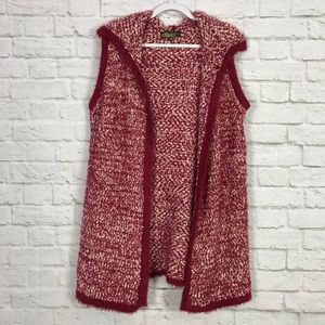 Absolutely Famous Oversized FluffyKnit Hooded Vest